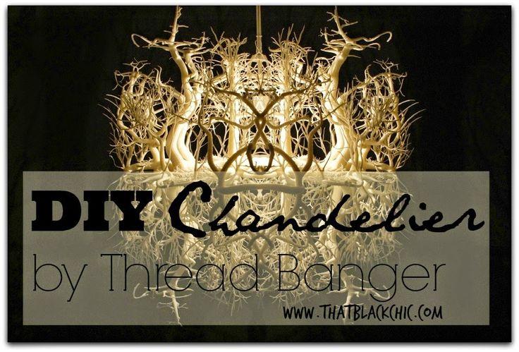DIY Share: Pinterest challenge Chandelier by Thread Banger