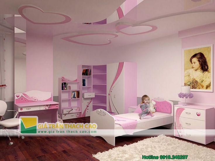 Thiết kế trần thạch cao cho phòng ngủ trẻ em 06