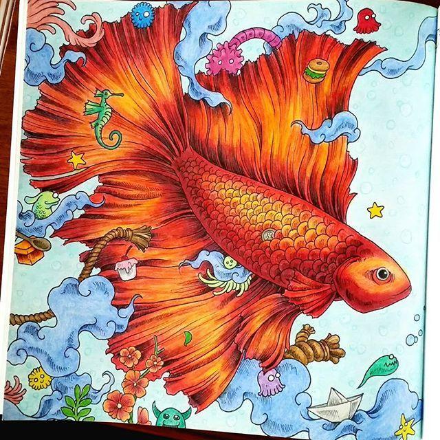 Animorphia Malarbok Inte Helt Klar Men Nastan Ska Till Lite Detaljer I Form Fish DrawingsColouringAdult