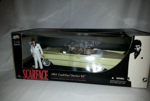 Jada Toys 1/18 Scarface 1963 Cadillac Series 62 RARE EDITION CAR WITH AL PACINO