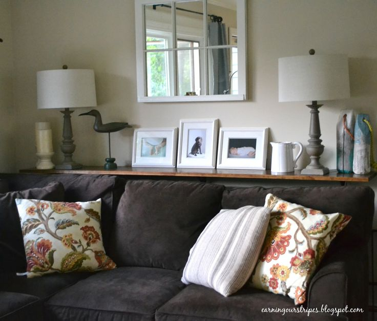 Decorating A Sofa Table Behind A Couch: I Love The Color Of This Couch