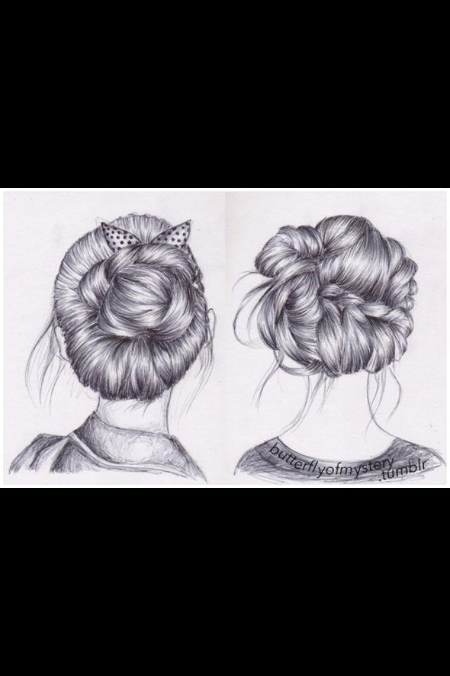 Haare zeichnen bleistift