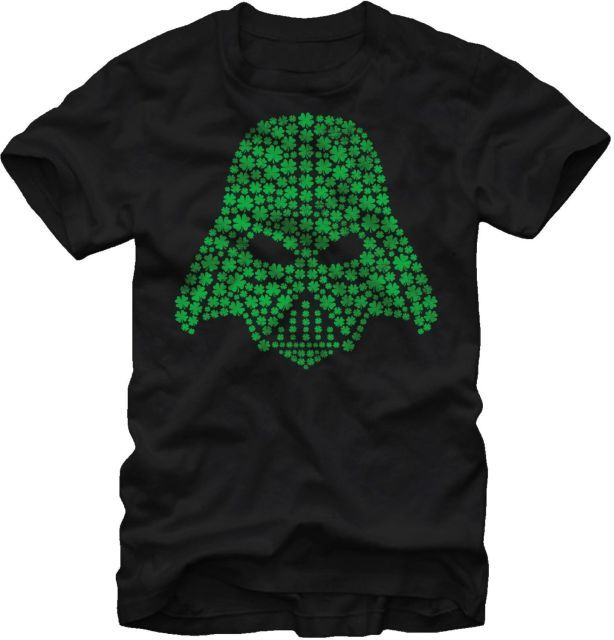 Shamrock Vader Helmet Star Wars T-Shirt - Movie T-Shirt