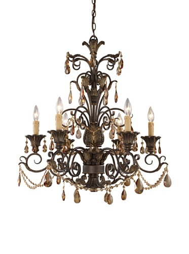 52 Off Trump Home Rochelle 6 Light Chandelier With Amber Crystal
