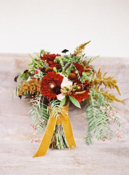 Autumn Garden Wedding Bouquet #thanksgivingweddings #thanksgivingideas