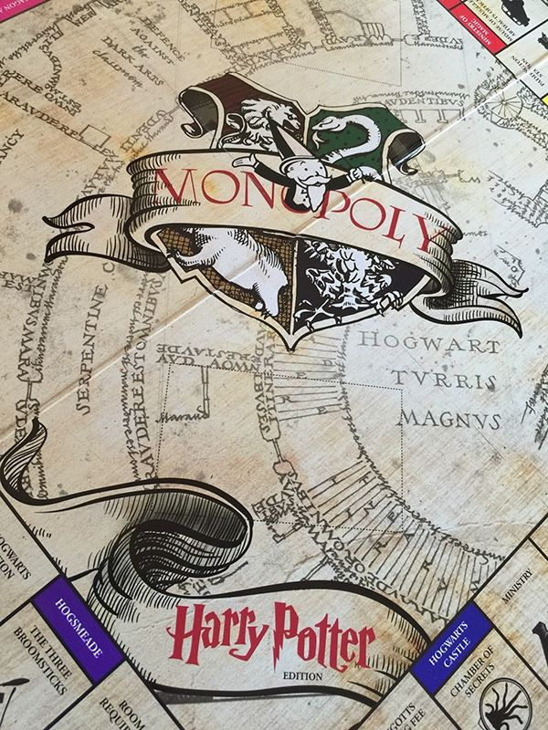 A gift and custom Harry Potter Monopoly set.