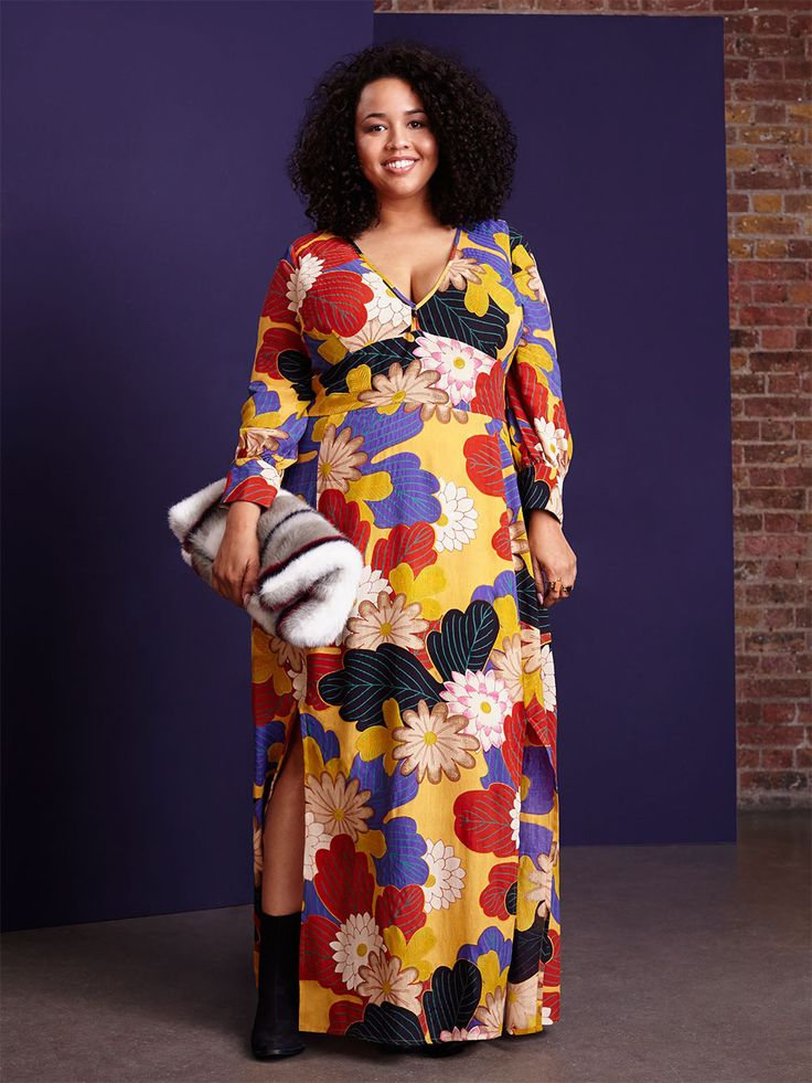 Gabi from gabifresh.com is the face of ASOS Curve's Fall campaign and modeled in their F/W 2015 lookbook. There is a definite 70s feel to the photos released so far, and this dress is fabulous!