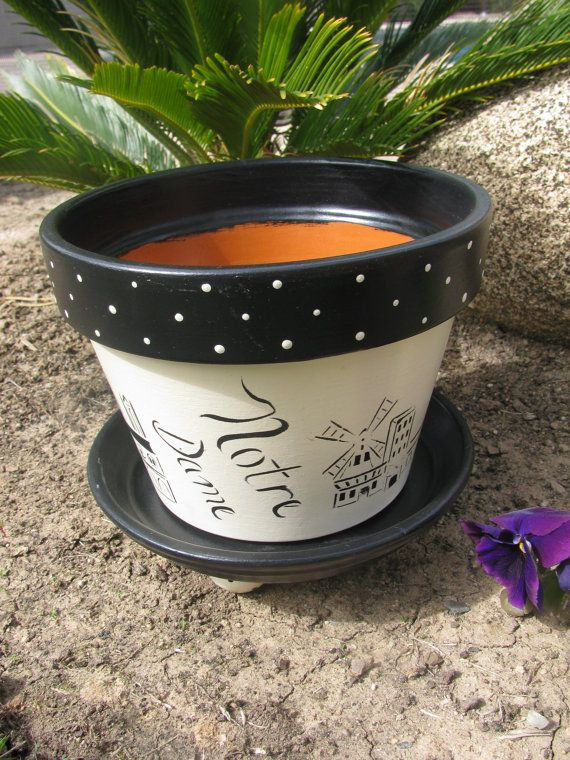 Paris Flower pot by bubee on Etsy, $20.00