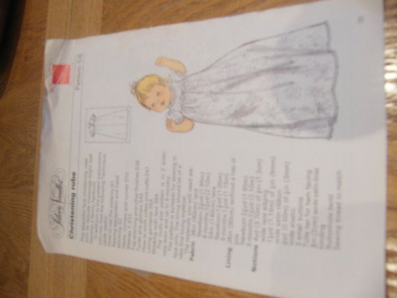 Christening Robe/ dress  Sewing Pattern . Age by NJscollection, £2.00