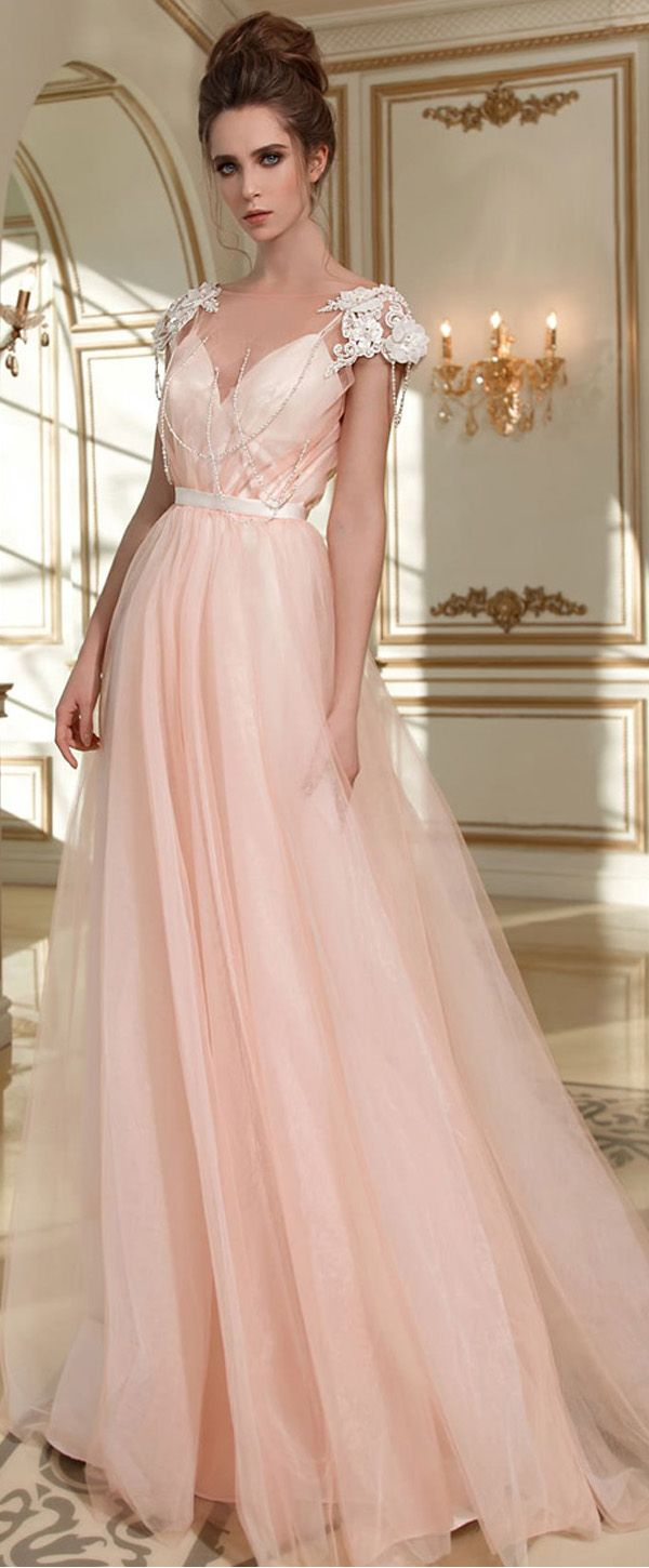 Glamorous Tulle Bateau Neckline A-line Wedding Dress With Lace ...