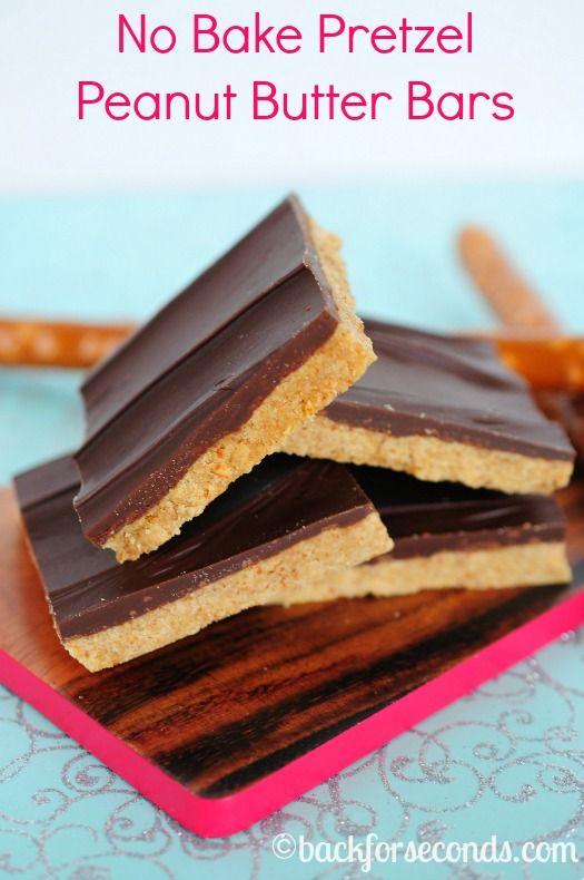 No Bake Pretzel Peanut Butter Bars and GIVEAWAY