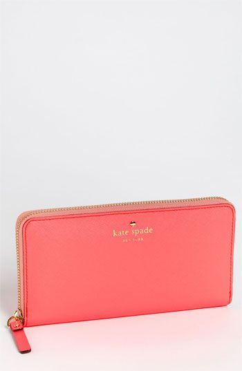 kate spade new york 'mikas pond - lacey' zip around wallet available at Nordstrom. WANT.
