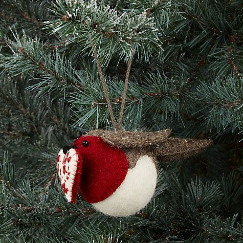 Buy Fiona Walker Hanging Robin with Heart, Mini Online at johnlewis.com