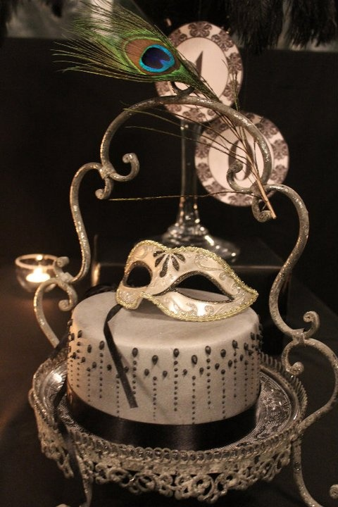 Masquerade Cake With Mask Fancy Amp Whimsical Cakes