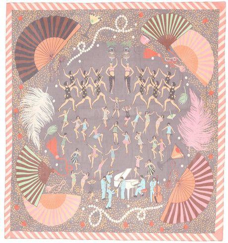 Karen Mabon | Multicolor 'great Gatsby' Print Silk Chiffon Scarf | Lyst