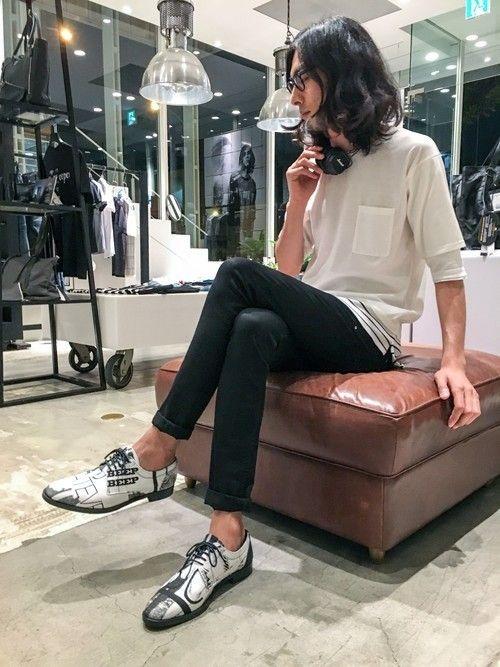 Watanabe(5351プール・オム エ ラ・ファム代官山店)|5351 POUR LES HOMMESのTシャツ/カットソーを使ったコーディネートWEAR #marshallheadphones #headphones