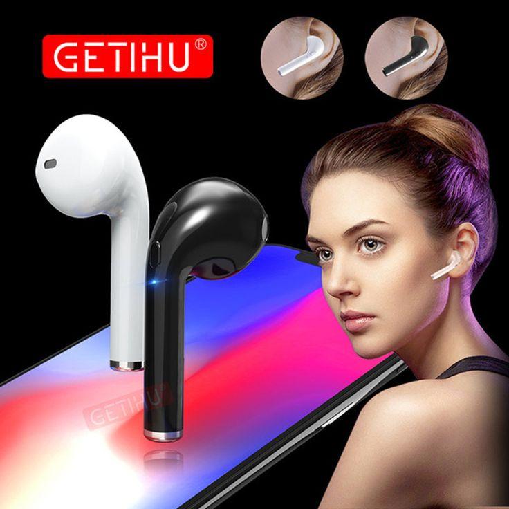 GETIHU Mini Bluetooth Sport Earphone Stereo headphones in Ear Buds wireless Earbuds handsfree Headset For iPhone Samsung Xiaomi