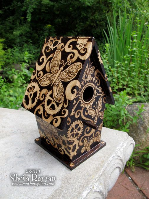 Steampunk Butterfly Birdhouse - home decor. $250.00, via Etsy.