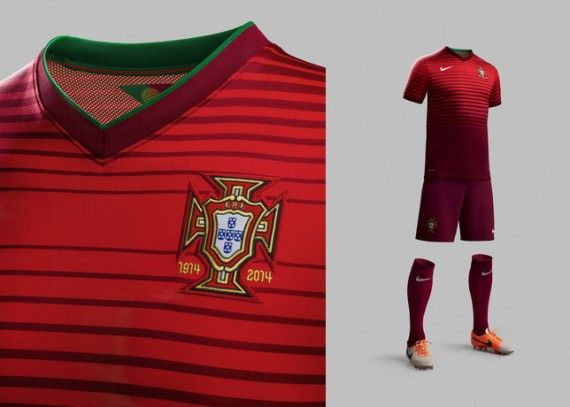 Camisa de Portugal Copa 2014 uniforme 570x407 Camisa de Portugal Copa 2014