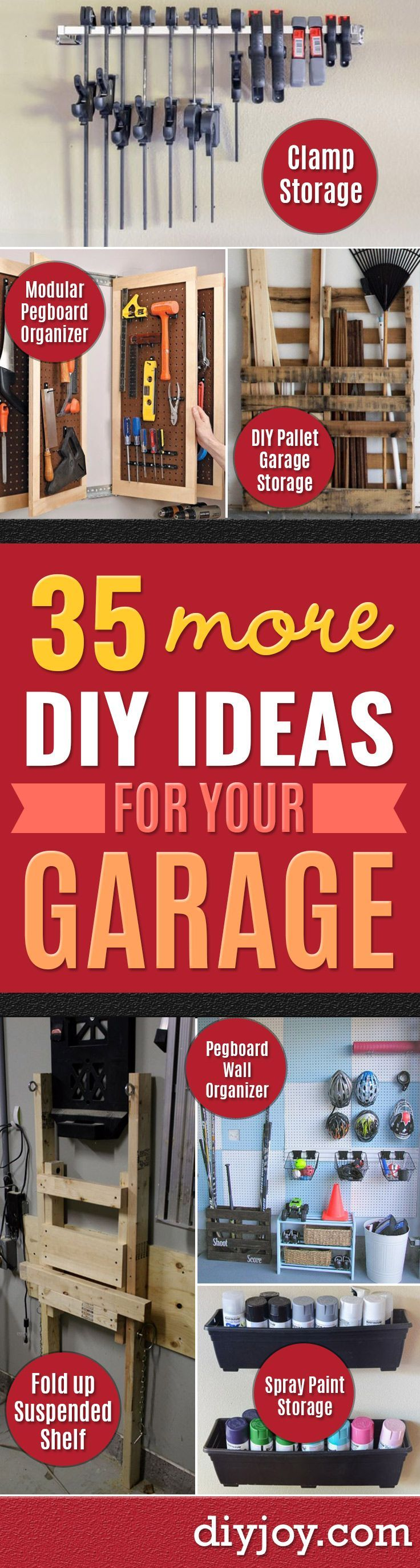 DIY Projects Your Garage Needs - Do It Yourself Garage Makeover Ideas Include Storage, Mudroom, Organization, Shelves, and Project Plans for Cool New Garage Decor - Easy Home Decor on A Budget http://diyjoy.com/diy-garage-ideas
