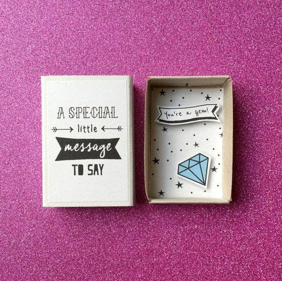 Du bist ein Juwel – Valentinstag-Karte – Diorama Streichholzschachtel – Edelstein Karte – blaue Diamant – Karte für Papa – Freundschaft Geschenk – Jahrestags-Karte