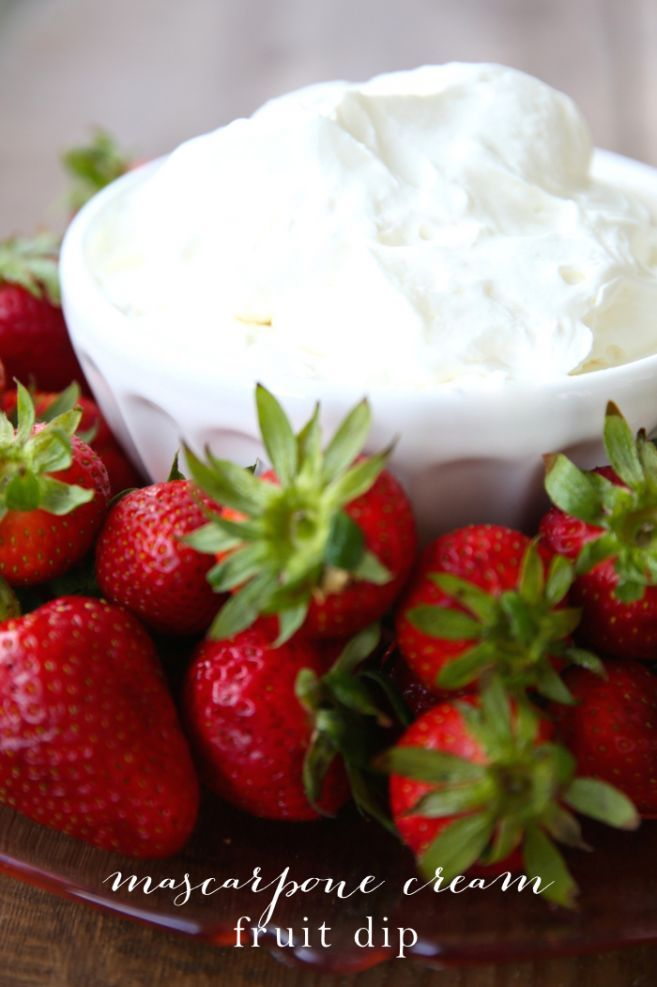 Mascarpone cream fruit dip - everyone who takes a bite requests this 3 ingredient, simple last-minute recipe!