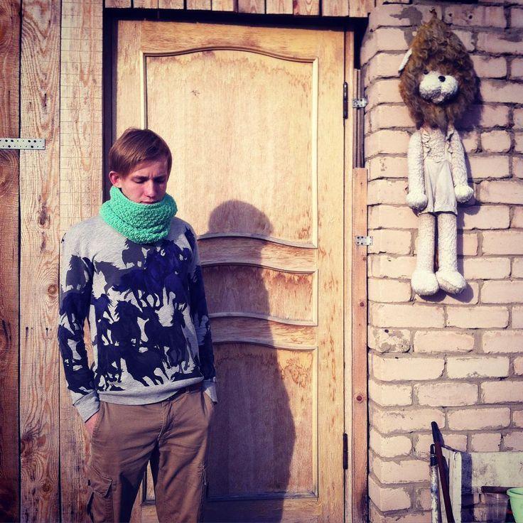 «Шарф-труба мятного цвета #шарфтруба #снуд #вязаныйснуд #вязаныевещи #вязание #вещиручнойработы #ручнаяработа #осень #челябинск #москва #домодедово»