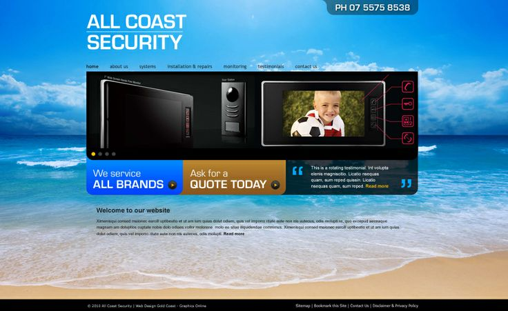 Website design for All Coast Security. #websitedesign #webdesign #web #design #graphicdesign #website #websites