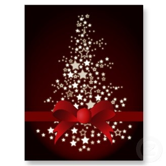 elegant red Corporate Christmas Greeting PostCards  #holidays #Christmas #greetingcards