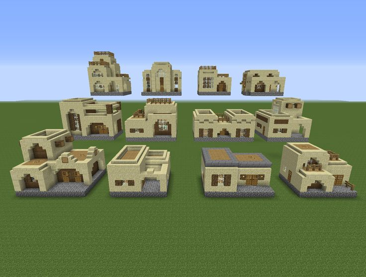 12 House Designs X 2 Building Styles = 24 Unique Houses Building