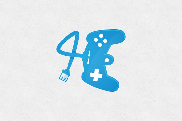 4 + E + Console games Gaming logo FOR SALE - if you wish to purchase contact me at: musiquedesigns@gmail.com