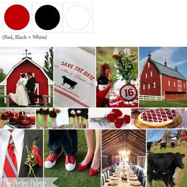 {Party Till the Cows Come Home}: A Palette of Red, Black White