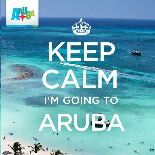 Keep Calm Im Going to Aruba