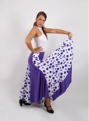 Falda Flamenca mod. EF041 sra (punto-crespon)