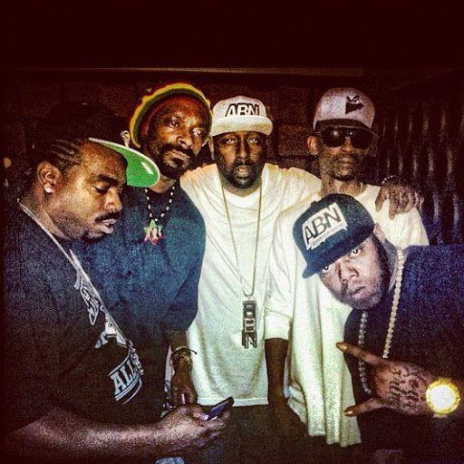 #DPGC & #ABN! l to r: Daz (E/S Rollin' 20s LBC   19th St. set), Bigg Snoop Dogg (E/S Rollin' 20s LBC), Trae, Kurupt (W/S Rollin' 60s NHC), and Z-Ro (W/S 5-2 HGC). (Photo: 2013)