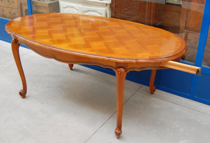Tavolo ovale provenzale in ciliegio lungo 182 cm