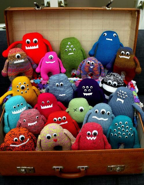 Knitted monsters.