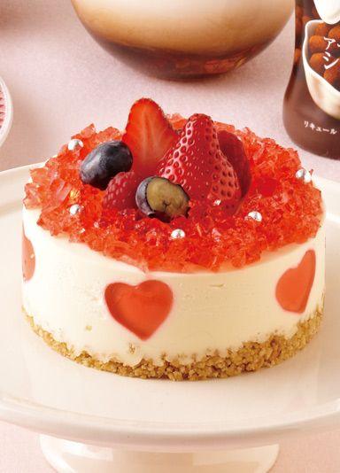 ハートの苺レアチーズケーキ のレシピ・作り方 │ABCクッキングスタジオのレシピ | 料理教室・スクールならABCクッキングスタジオ