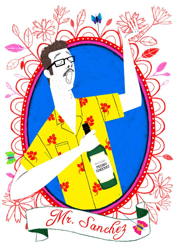"Mr. Sanchez - t-shirt for ""Los Amigos"", personal project"