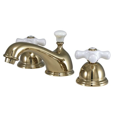 fashion plumbing pcc40l polished brass series widespread bathroom sink faucets 7