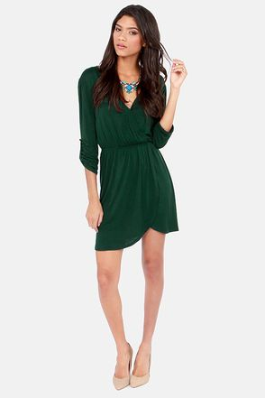 63 best images about Green Dress on Pinterest | Green dress, Wrap ...