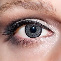 Graue Kontaktlinsen farbige perlgraue Linsen von KwikSibs, 2-farbig ohne Stärken (Plan)