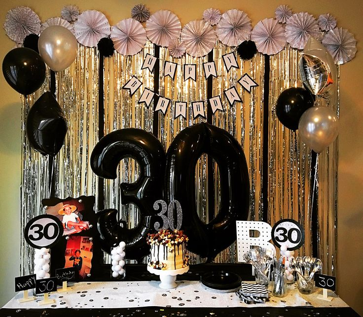 DIRTY THIRTY!  30th Birthday!   DIY flower rosettes, birthday banner, center piece, backdrop, cake    IG: alwaysmadewithlove