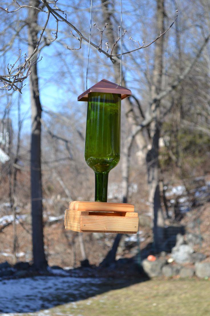 Pin by BeaneryBottleShop on Wine Bottle Bird Feeder | Wine bottle bird feeder, Bird feeders ...