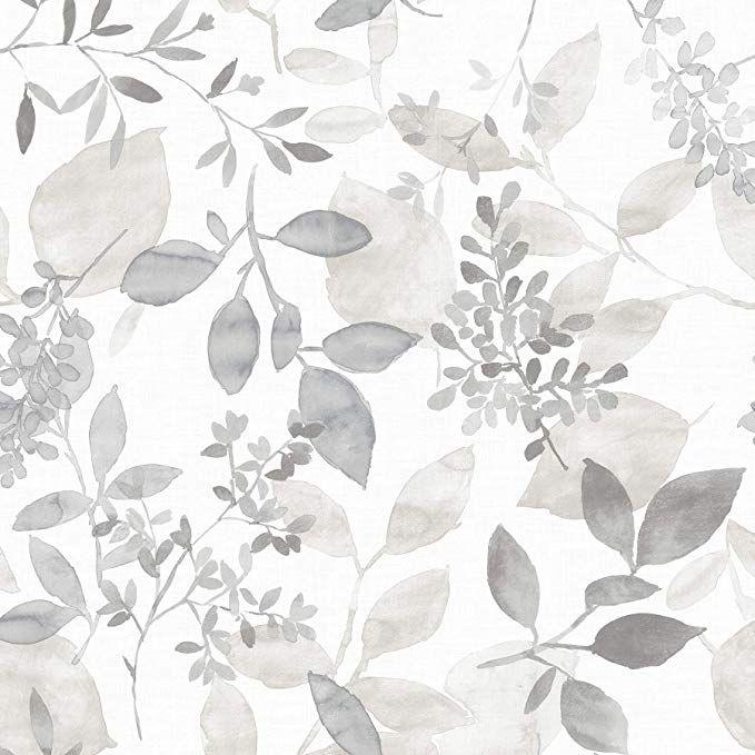 Nuwallpaper Nus3144 Grey Breezy Peel Stick Peel And Stick Wallpaper Amazon Com Botanical Wallpaper Watercolor Wallpaper Wallpaper Samples