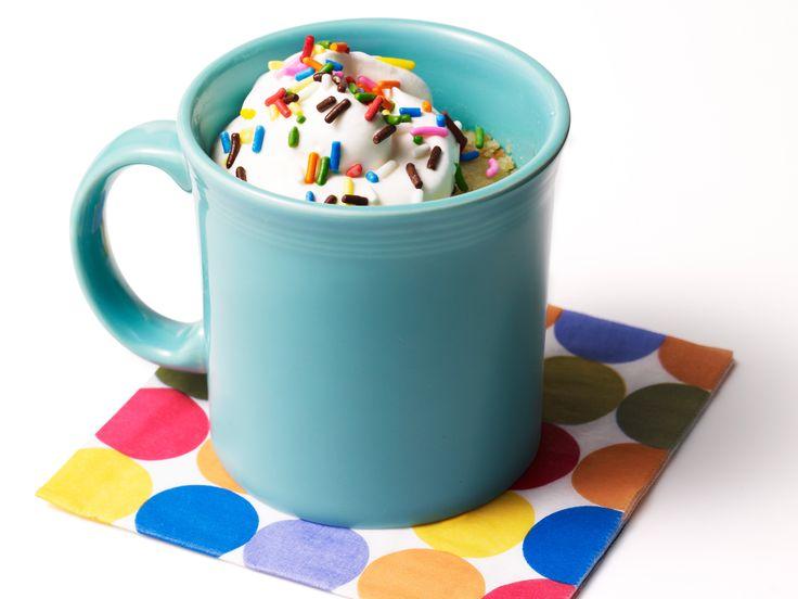 Basic Mug Cakes Recipe : Food Network Kitchen : Food Network - FoodNetwork.com  Great idea for school cake sale