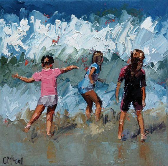 Ocean Paintings Seascape Gift For Sisters Bridesmaid