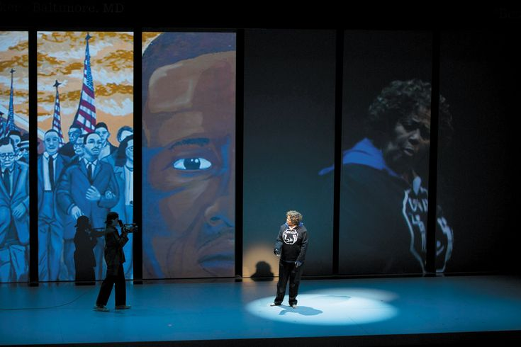 Anna Deavere Smith in Notes from the Field, her play about American education and the criminal justice system, which she performed at the American Repertory Theater, Cambridge, Massachusetts, before the production came to New York