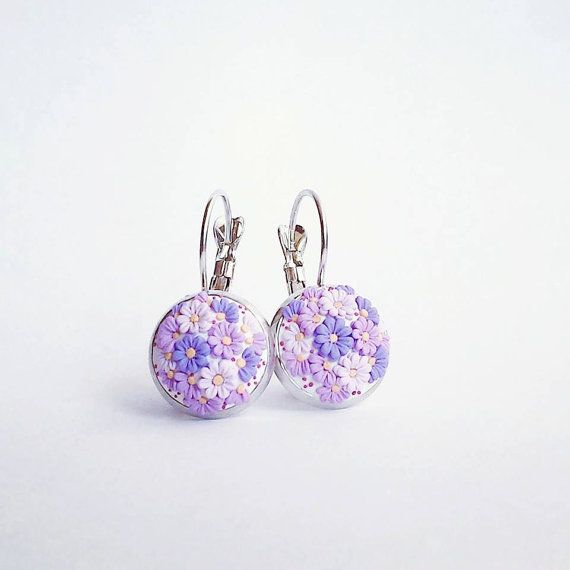 Purple Polymer Clay and Nickel Free by DZHandmadeProducts on Etsy, $22.50