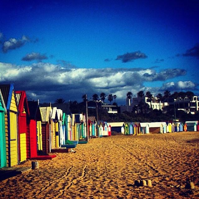 Brighton beach near Melbourne